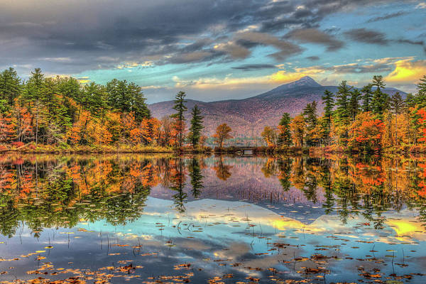 Autumn In New England Photograph - A Mountain And Its Lake by Joe Martin A New Hampshire Portrait Photographer