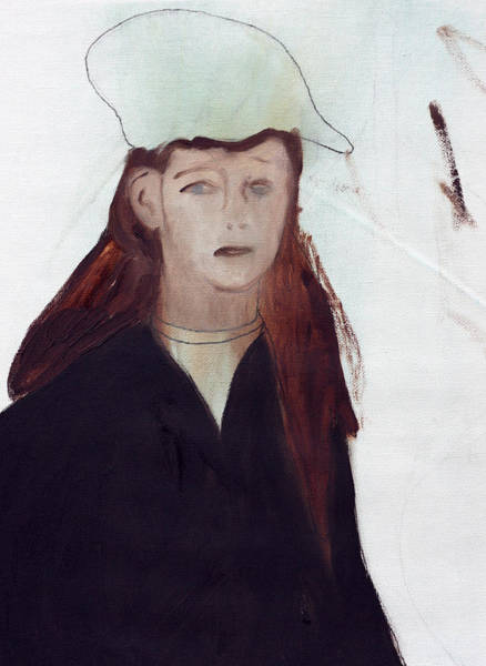 Painting - A Mourner by Artist Dot