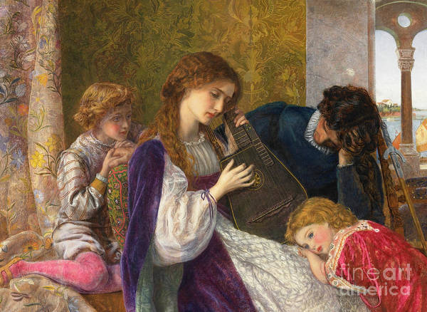 Wall Art - Painting - A Music Party, 1864 by Arthur Hughes