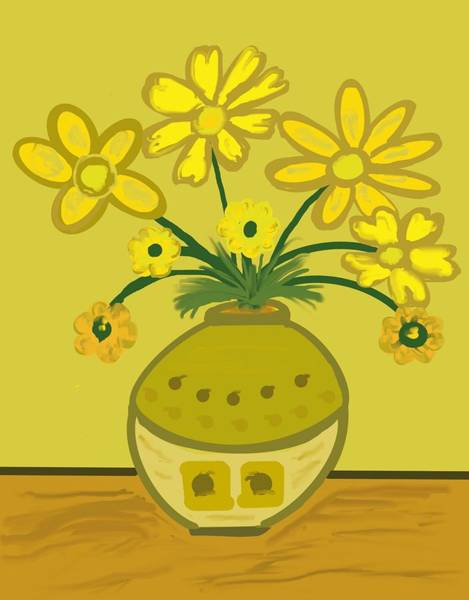 Wall Art - Digital Art - A Mustard Summer by Joan Ellen Kimbrough Gandy