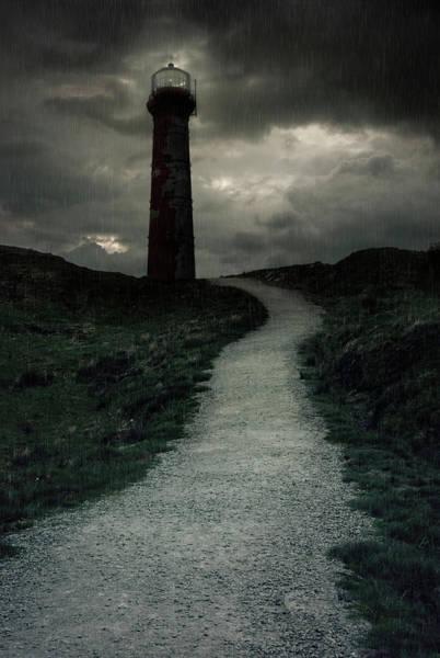 Photograph - A Mysterious Lighthouse by Jaroslaw Blaminsky