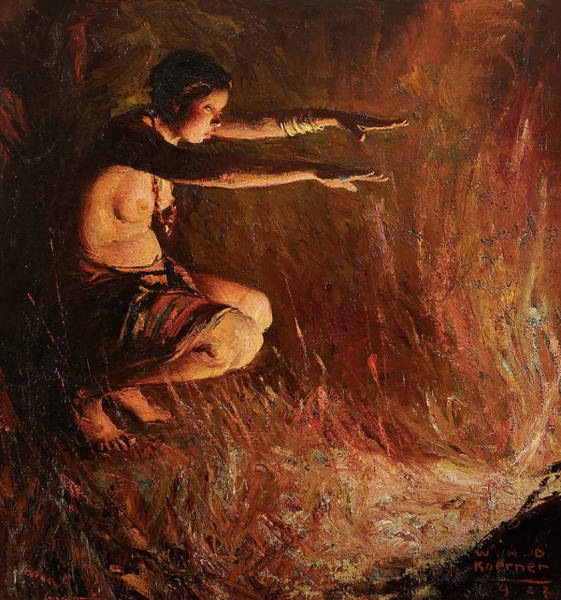 Wall Art - Painting - A Mystical Incantation by William Henry Dethlef Koerner