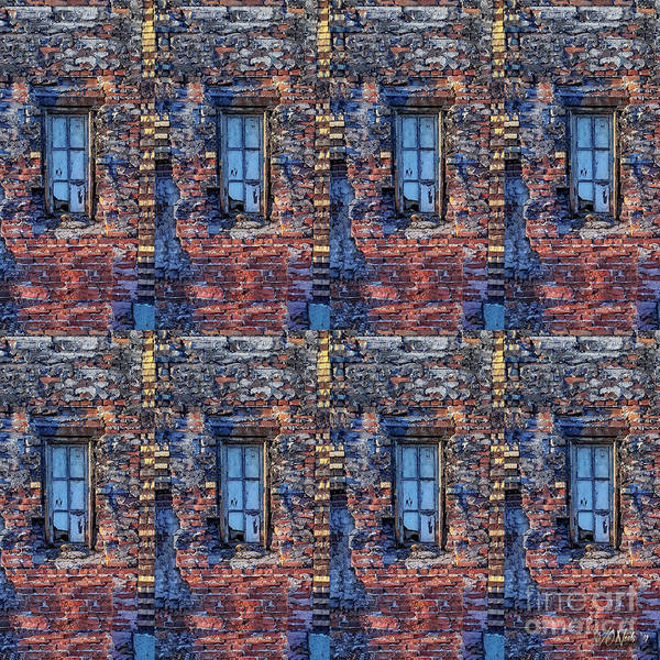 Digital Art - A Narrow Window X 8 by Walter Neal