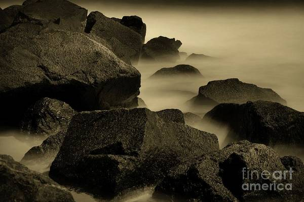 Wall Art - Photograph - A New Jersey Jetty In Sepia by Paul Ward