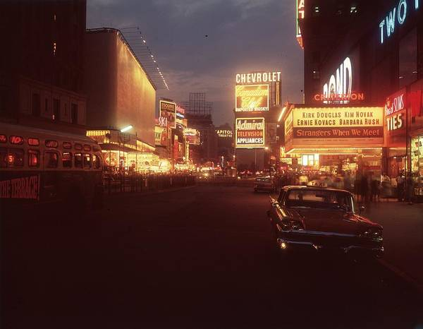 Night Photograph - A Night In New York by Hulton Archive