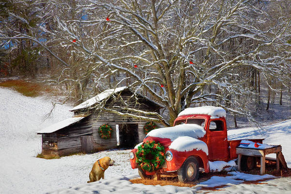 Photograph - A Nostalgic Christmas Eve Painting by Debra and Dave Vanderlaan