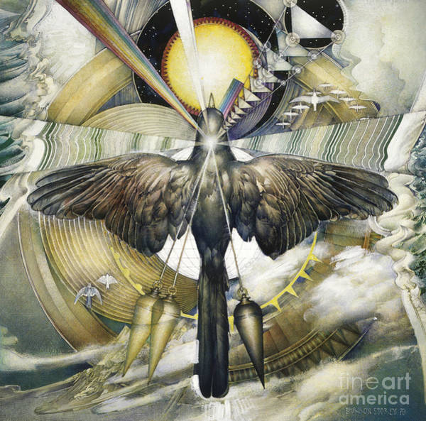 Photograph - A Painting Alludes To Powers That Might Enable Birds To Migrate. by Barron Storey