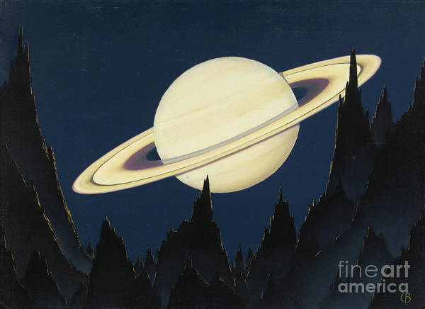 Photograph - A Painting Of Saturn As Seen From An Astroid 500,000 Miles Away. by Charles Bittinger