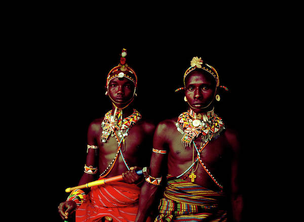 Indigenous People Photograph - A Pair Of Samburu Morani by Harry Hook