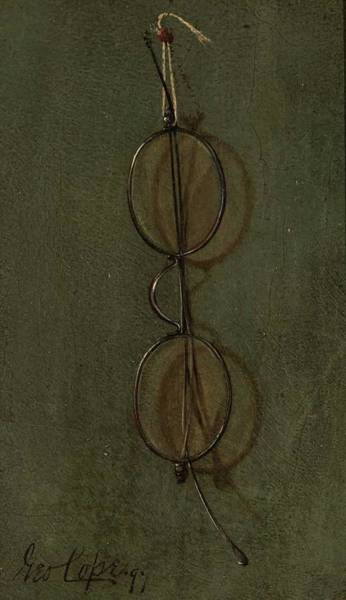 Wall Art - Painting - A Pair Of Spectacles , George Cope American, 1855 1929 by Celestial Images