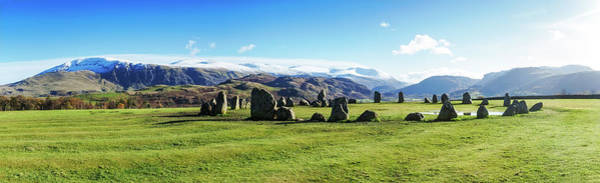 Prehistoric Era Wall Art - Photograph - A Panoramic View Of Castlerigg Stone by Alex Hare