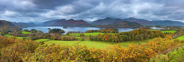 Wall Art - Photograph - A Panoramic View Of Derwent Water by Sebastian Wasek