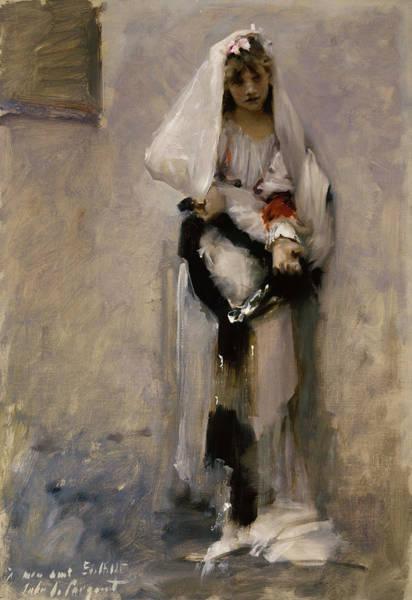 Wall Art - Painting - A Parisian Beggar Girl, 1877 by John Singer Sargent