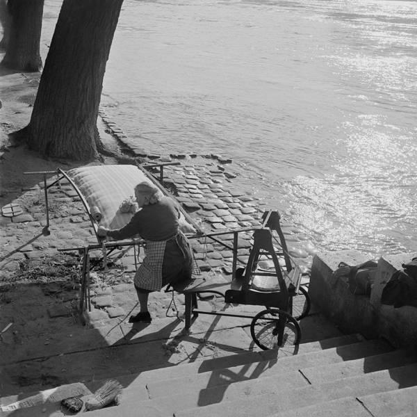 Craftsperson Photograph - A Parisian Mattress Maker In 1955 by Keystone-france