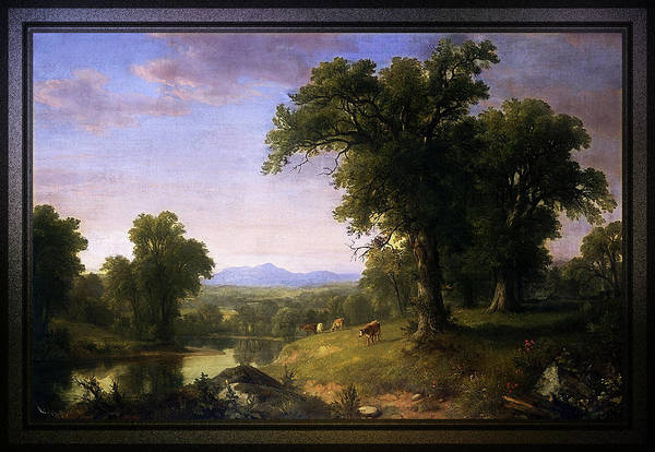 Painting - A Pastoral Scene By Asher Brown Durand by Xzendor7