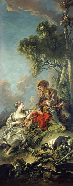 Wall Art - Painting - A Pastoral Scene, L'aimable Pastorale, 1762 by Francois Boucher