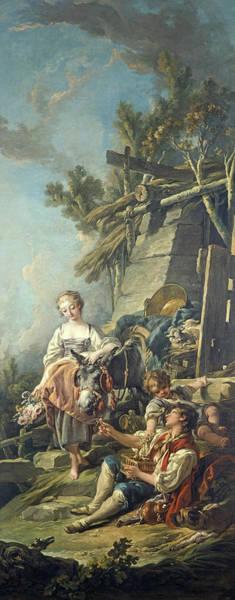 Wall Art - Painting - A Pastoral Scene, L'offrande A La Villageoise, 1761 by Francois Boucher