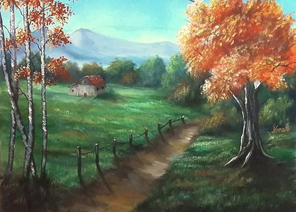 Painting - A Path Through A Meadow  by Manar Hawsawi