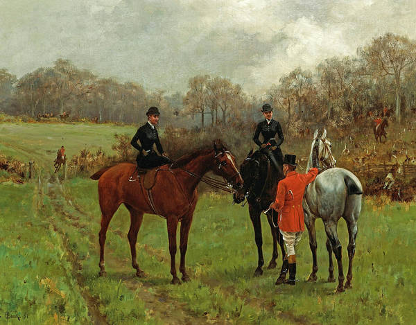 Wall Art - Painting - A Pause During The Hunt by Thomas Blinks
