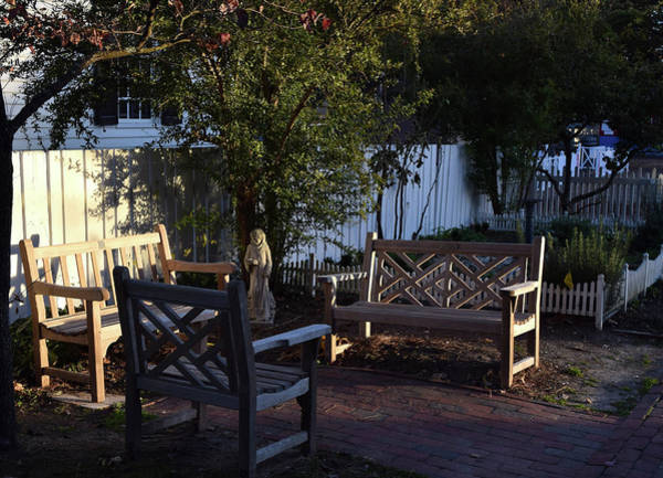 Photograph - A Peaceful Sitting Area by Karen Harrison