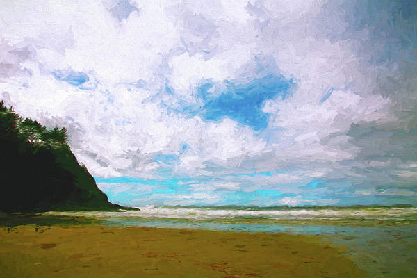 Oregon Coast Mixed Media - A Perfect Day by Bonnie Bruno