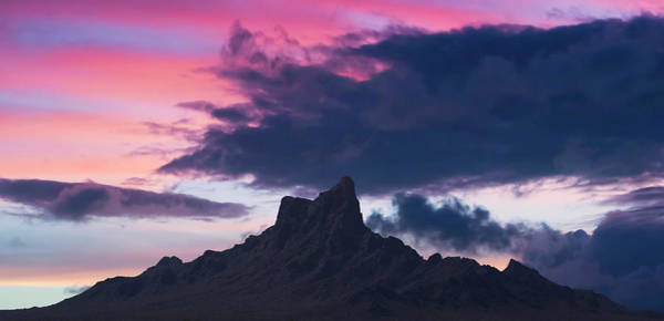 Orange County Digital Art - A Picacho Peak State Park Sunset Shot, Arizona by Derrick Neill