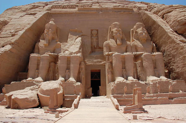 Wall Art - Photograph - A Picture Of The Statues At Abu Simbel by Vinzo