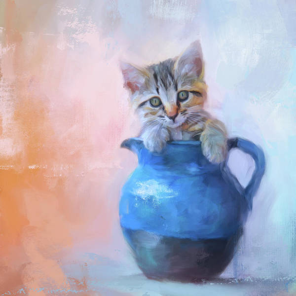 Painting - A Pitcher Full Of Purrfection by Jai Johnson