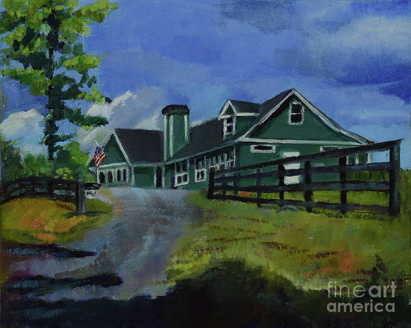 Painting - A Place For Dreams -ott Farms And Vineyard by Jan Dappen