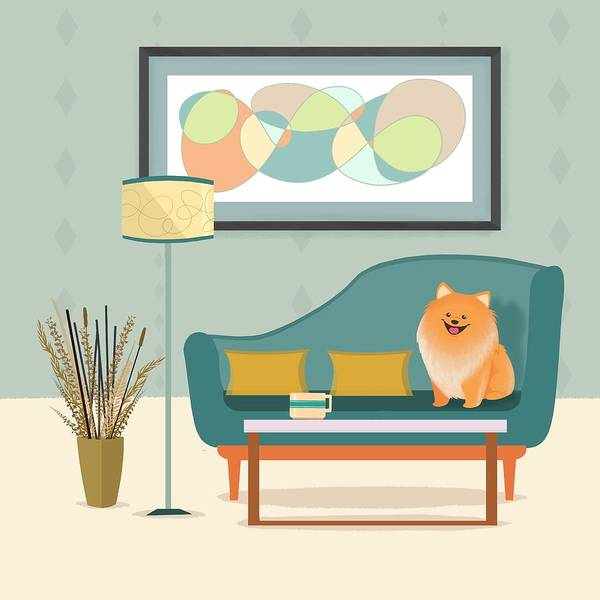 Pomeranian Painting - A Pomeranian Makes A House A Home by Little Bunny Sunshine