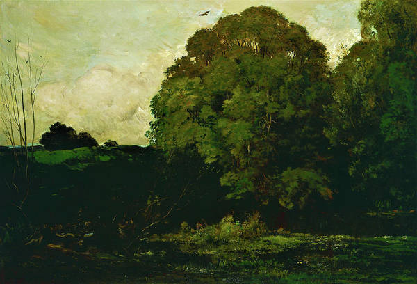 Wall Art - Painting - A Pond In The Morvan - Digital Remastered Edition by Charles-Francois Daubigny