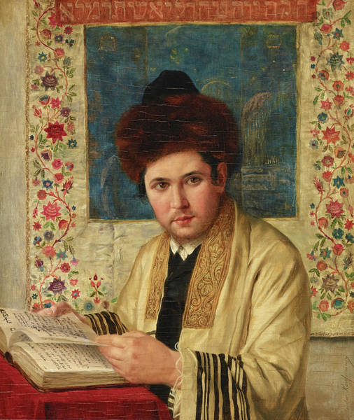 Wall Art - Painting - A Portrait Of A Hassidic Talmud Student by Isidor Kaufmann