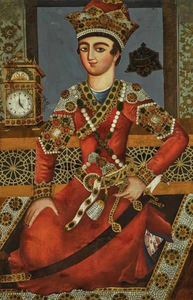Wall Art - Painting - A Portrait Of Khosrow Parviz, Circle Of Mihr Ali, Persia, Qajar, Dated 1217 Ah 1802-03 Ad by Celestial Images