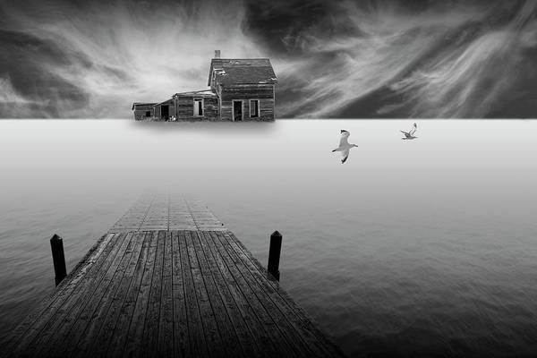 Photograph - A Prairie Dream A Surreal Black And White Composition by Randall Nyhof