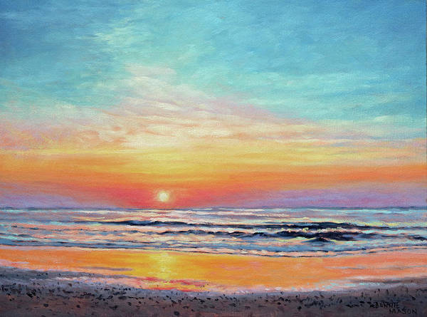 Wall Art - Painting - A Promising Beginning - Sunrise On The Outer Banks by Bonnie Mason