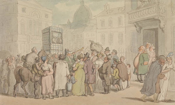 Wall Art - Drawing - A Punch And Judy Show by Thomas Rowlandson
