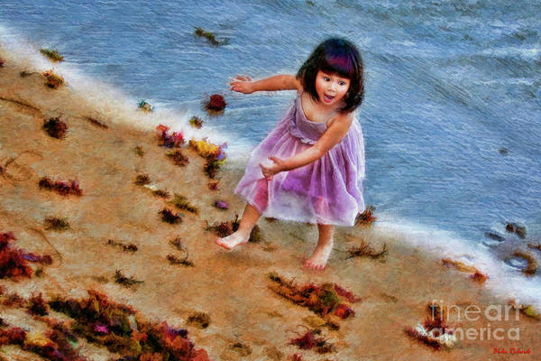 Photograph - A Purple Dress Beach Day by Blake Richards