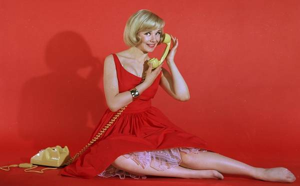 Red Dress Photograph - A Quick Call by Chaloner Woods