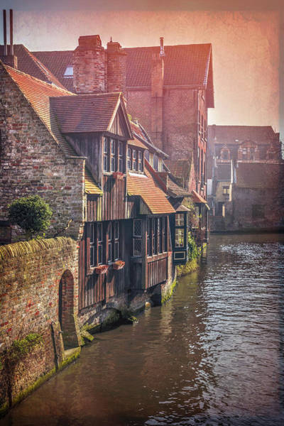 Belgian Photograph - A Quiet Little Corner Of Bruges Belgium  by Carol Japp