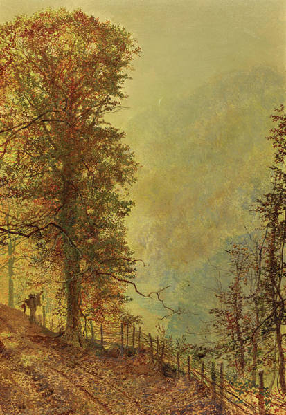 Wall Art - Painting - A Rabbit Hunter On A Riverside Road, 1870 by John Atkinson Grimshaw