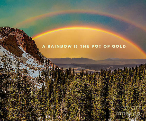 Photograph - A Rainbow Is The Pot Of Gold by James Hennis