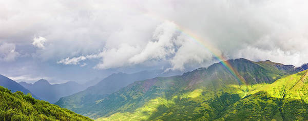 Wall Art - Photograph - A Rainbow Shines Through Atmospheric by Kevin G. Smith