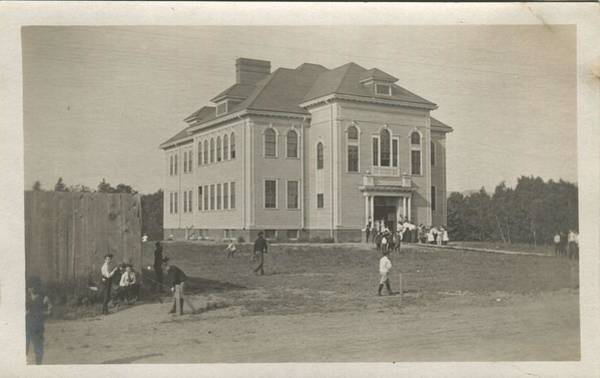 Wall Art - Painting - A Real Photo Postcard Of The Camden High School In Camden  Maine  1904 1907  This Postcard Has An Un by Celestial Images
