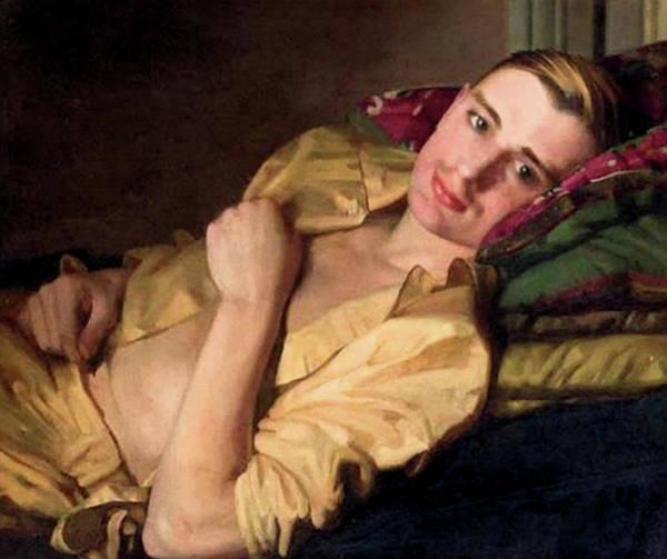 Painting - A Reclining Man  by Konstantin Somov