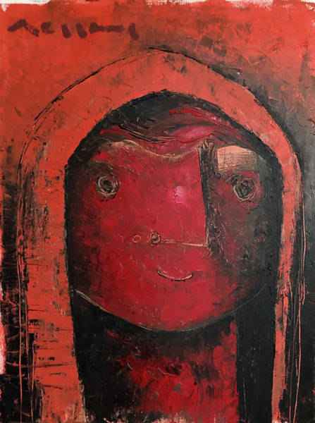Wall Art - Painting - A Red Cloak  by Mark M Mellon