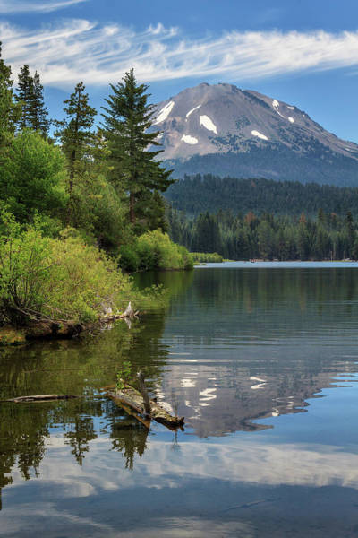 Photograph - A Reflection Of Mount Lassen by James Eddy