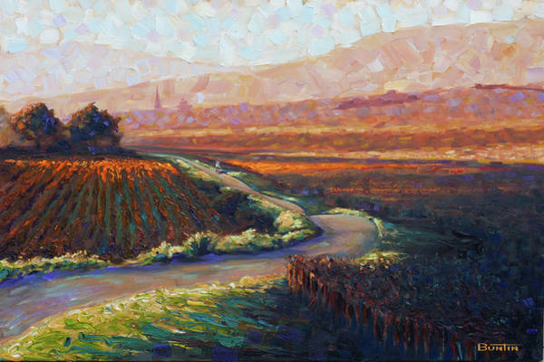 Painting - Burgundy Autumn Art Print by Rob Buntin