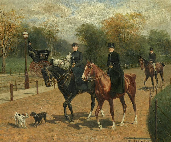 Farmstead Painting - A Ride In The Park by Jan van Chelminski