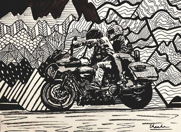 Wall Art - Drawing - A Ride by Thanh Ha Nguyen-Maga