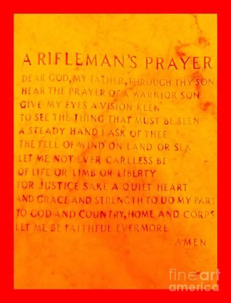 A Riflemans Prayer Art Print
